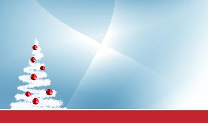 fond bleu et sapin de Noël