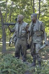 Vietnam war memorial statues in Arlington cemetery