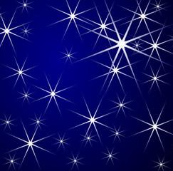 Stars - Christmas blue background