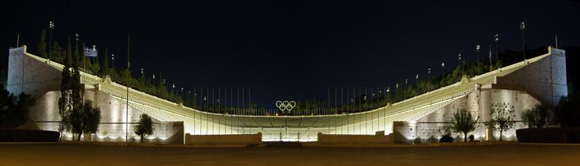 Kalimarmaro Stadium of Athens by Night, Greece