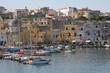 Hafenansicht der Insel Procida, Kampanien, Italien