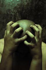 man having painful depression