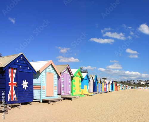 Brighton Beach Bathing Boxes - 4985580