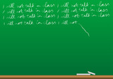 Vector of blackboard with writing poster