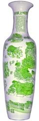 green Chinese porcelain vase / grüne chinesiche Porzellan Vase