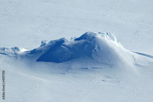 Leinwandbild Motiv Antarctic snow peak