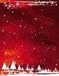 red grunge christmas background, vector illustration
