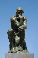 Bronze sculpture The Thinker by Rodin