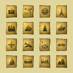 papyrus travel icons