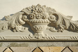Ornate Design Element on Stucco Wall poster