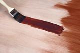 Paintbrush leaving a brush stroke poster