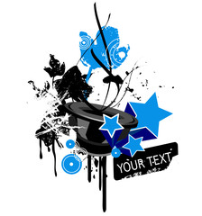 Music party textholder