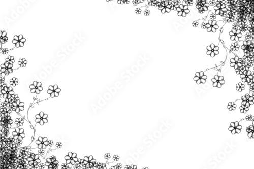 Cadre Noir Blanc Photo