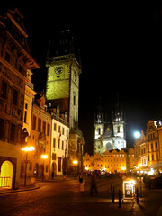 Night view of Prague (Czech Republic)