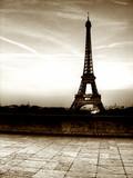 Tour de Eifel (Paris) - Old style picture poster