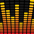 Orange and Yellow Music Equalizer Background