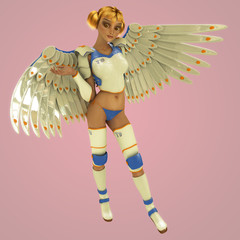 Cute 3D Anime Influenced Fantasy Character.