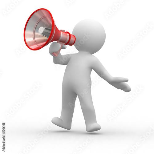 Leinwanddruck Bild megaphone