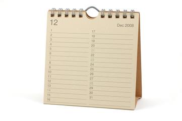 Calendar - December 2008