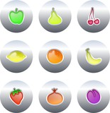 Fototapety fruit buttons