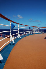 Cruise Ship Top Deck and Railing