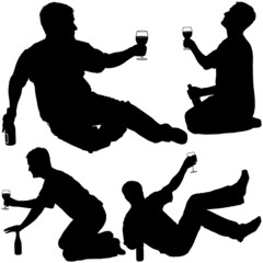 Silhouettes - Drinking Man 4