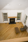 great room condo with fireplace poster