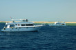 Two motor yachts at Red sea, Egypt