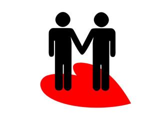gay mano nella mano e cuore