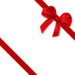 Leinwanddruck Bild - red gift, ribbon, bow