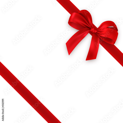 Leinwanddruck Bild red gift, ribbon, bow