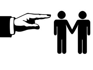 gay mano nella mano, insultati