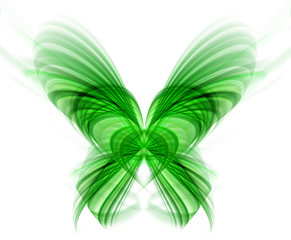 Abstract green butterfly