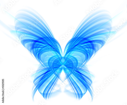 Abstract blue butterfly