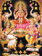 INDIAN GODESS MAA LAKSHMI WITH MAA SARASWATI AND GANESH JI