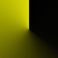Radar jaune Abstrait
