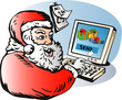Santa sending presents thru e-mail