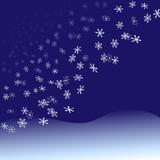 Nightfall Snowflakes Snowfall poster