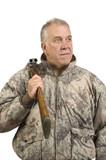 Hunter with shotgun poster