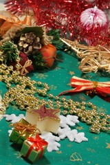 Christmas still-life and ornaments
