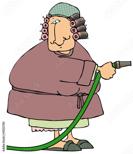 Woman With A Hose