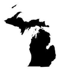map of Michigan, USA