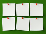 Sticker notes isolated on the green background poster