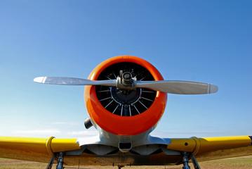 Front view of classic warplane