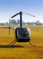 Front view of light helicopter