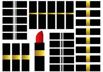 rows of lipsticks