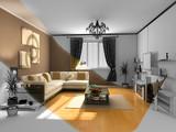 the modern interior sketch poster