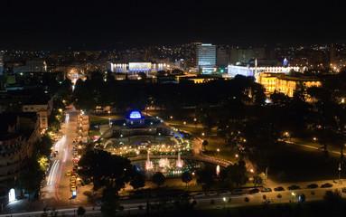Tirana city by night