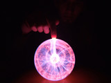 Plasma Ball with Finger poster