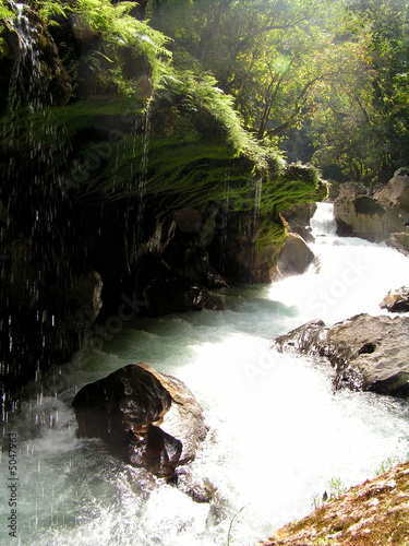 waterfall nature rock guatemala